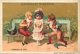 - Chromos -ref-ch692- Chocolat Masson - L Embarras Du Choix - Imp. Vallet Minot - Fond Doré - - Other