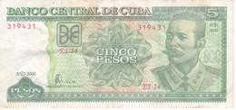 BILLETE DE CUBA DE 5 PESOS DEL AÑO 2006 DE ANTONIO MACEO  (BANKNOTE) - Cuba