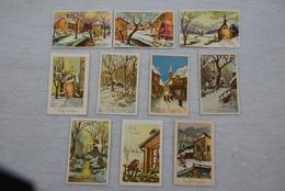 KERSTFEEST (Noël) - Zichten / Paysages - Een Geheel Van 10 Kaarten / Ensemble De 10 Cartes - Année '60 - Navidad
