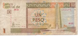 BILLETE DE CUBA DE 1 PESO CONVERTIBLE DEL AÑO 2006  (BANKNOTE) - Cuba