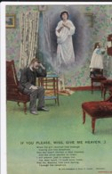 AN12 Bamforth Song Card - If You Please, Miss, Give Me Heaven, No. 3 - Postcards