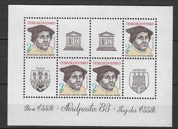CHECOSLOVAQUIA 1983, Nordposta S/s Mnh (LUTHER) - Checoslovaquia