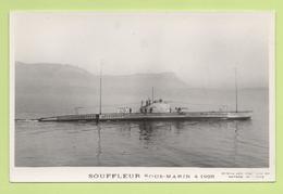 SOUFFLEUR Sous-marin 4 1928 / Photo Marius Bar, Toulon / Marine - Bateaux - Guerre - Militaire - Sous-marins