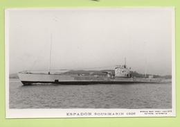 ESPADON Sous-marin 1926 / Photo Marius Bar, Toulon / Marine - Bateaux - Guerre - Militaire - Sous-marins