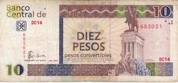 BILLETE DE CUBA DE 10 PESOS CONVERTIBLES DEL AÑO 2006  (BANKNOTE) - Cuba