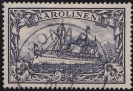 Deutsches  Reich   Karolinen      .   Michel    .    18  (2 Scans)         .       O       Gebraucht - Kolonie: Karolinen