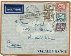 Lettre Indochine 1938 - Covers & Documents