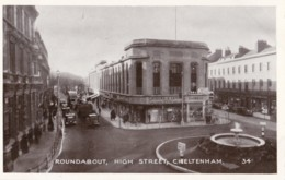 AQ27 Roundabout, High Street, Cheltenham - Animated, Bus, Cars, Shops - Cheltenham
