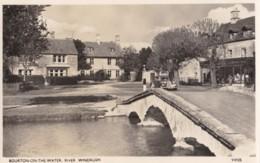 AQ27 Bourton On The Water, River Windrush - Car On Bridge, RPPC - Other