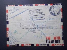 Marcophilie  Cachet Lettre Obliteration - INDOCHINE Postes Aux Armées TOE - 1950 (2420) - Postmark Collection (Covers)