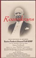 Gaston Van Gorp Directeur Der Brouwerij L' Ecluse Het Sas Boortmeerbeek Bier Burgemeester Doodsprentje Image Mortuaire - Images Religieuses