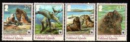 Falkland Islands 2011 WWF Endangered Species, Southern Sea Lion Set Of 4, MNH, SG 1194/7 - Falkland Islands
