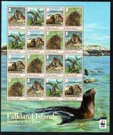 Falkland Islands 2011 WWF Endangered Species, Southern Sea Lion Sheetlet Of 16, MNH, SG 1194/7 - Falkland Islands