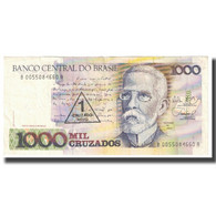 Billet, Brésil, 1 Cruzado Novo On 1000 Cruzados, KM:216b, TTB - Brazil