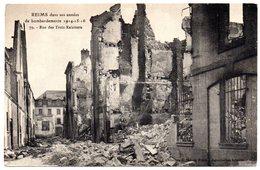Tarjeta Postal Reims Dans Ses Annees De Bombardements 1914. - Reims