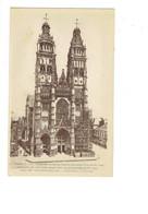 Cpa - 37 - Tours - Cathédrale Travaux échafaudage -édit Maillocheau 4 - Tours