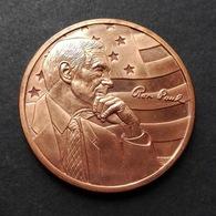 USA United States, RON PAUL 1oz AVP Pure Copper Cu - 1 Oncia AVP Rame Puro Stati Uniti - Stati Uniti