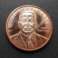 USA United States, Ludvig VON MISES 1oz AVP Pure Copper Cu - 1 Oncia AVP Rame Puro Stati Uniti - Stati Uniti