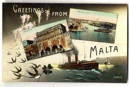 MALTE  MALTA  GREETINGS FROM - Malte