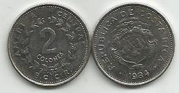 Costa Rica  2  Colones 1984. High Grade - Costa Rica