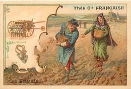 - Chromos -ref-ch673-  Thés Compagnie Française - Les Semailles - Semeurs - Materiel Agricole - Agriculture - Metiers - - Thé & Café