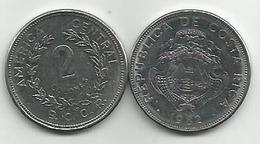 Costa Rica  2  Colones 1982. - Costa Rica