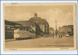 XX004662/ Dortmund Hauptbahnhof Straßenbahn AK 1928 - Deutschland