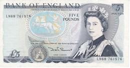 BILLETE DE REINO UNIDO DE 5 POUNDS DEL AÑO 1980-1984 EN CALIDAD EBC (XF) (BANK NOTE) - 1952-… : Elizabeth II