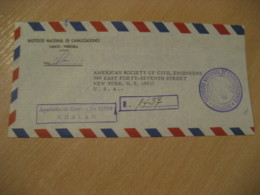 CHACAO Caracas 1973 To New York USA Inst. Nac. Canalizaciones Water Postag Cancel Air Mail Cover VENEZUELA Agriculture - Agriculture