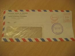 MARACAY Aragua 1968 Facultad De Agronomia University Meter Mail Cancel Air Mail Cover VENEZUELA Agriculture - Agriculture