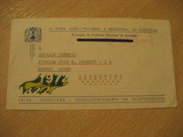 SOROCABA 1974 To Buenos Aires Argentina Feira Agro-Pecuaria Meter Mail Cancel Cover BRASIL Brazil Agriculture - Agriculture