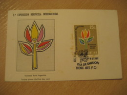 BUENOS AIRES 1971 Exposicion Horticola Int. Horticulture FDC Cancel Card ARGENTINA Agriculture - Agriculture