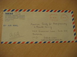 TSUKUBA-SHI 1993 Agricultural Engineering Meter Mail Cancel Air Mail Cover JAPAN Agriculture - Agriculture