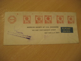 NEW DELHI 1969 To New York USA Central Board Of Irrigation Meter Mail Cancel Air Mail Cover INDIA Agriculture - Agriculture
