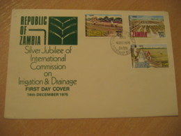 NDOLA 1975 Irrigation & Drainage FDC Cancel Cover ZAMBIA Agriculture - Agriculture