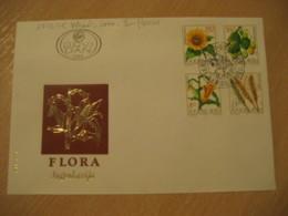 BELGRADE 1981 Yvert 1773/6 Flora Wheat Sunflower Corn FDC Cancel Cover YUGOSLAVIA Agriculture - Agriculture