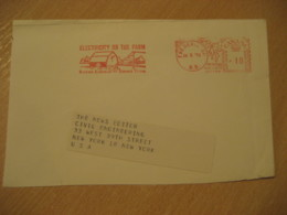 FREDERICTON 1970 Electricity On The Farm Farming Physics Meter Mail Cancel Cover CANADA Agriculture - Agriculture