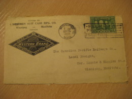 WINNIPEG 1927 Western Brand Suit Case Advertising Front Cover Cancel CANADA Agriculture - Agriculture
