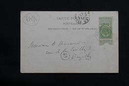 BELGIQUE - Oblitération Paquebot De Ostende / Douvres En 1906 Sur Carte Postale - L 28511 - 1893-1907 Coat Of Arms