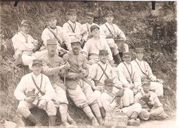 Carte Photo Groupe De Soldats Du 89e RI à Rosoy (Oise Ou Loiret ?) En 1918 - 1914-18