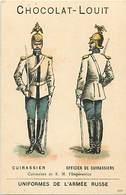 - Chromos -ref-ch667- Chocolat Louis - Uniformes  De L Armée Russe - Cuirassier - Cuirassiers - Militaires - Militaria - - Louit
