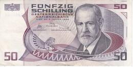 BILLETE DE AUSTRIA DE 50 SCHILLING DEL AÑO 1986 (BANKNOTE-BANK NOTE) - Austria