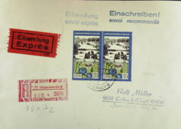 DDR: R-Eil-Fern-Bf 35 Pf Wiesenburg Landschaftsparks Mit SbPA-R-Zettel 2, 77 Hoyerswerda 8 (105), 25.6.90 Knr: 2616 (2) - DDR