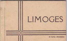 CPA CARNET LIMOGES DE 10 CARTES éditions TERRASSON Jacques SUPERBE - Limoges