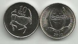 Botswana 10 Thebe 2002. UNC - Botswana