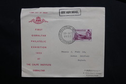 GIBRALTAR - Enveloppe 1ère Exposition Philatélique En 1953 Pour Le Royaume Uni - L 28518 - Gibraltar