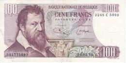 BILLETE DE BELGICA DE 100 FRANCOS DEL AÑO 1964  DE LAMBERT LOMBARD  (BANK NOTE) - 100 Francos