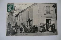 CPA 47 LOT ET GARONNE XAINTRAILLES. Rue De La Poste. 1909. - France