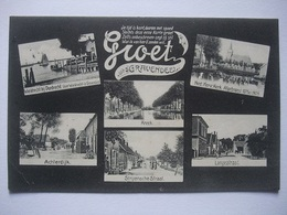 M77 Ansichtkaart Groet Uit 's-Gravendeel - 1909 - Niederlande