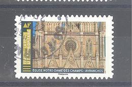 France Autoadhésif Oblitéré (Histoire De Styles Architecture - Eglise Notre-Dame Des Champs Avranches) (cachet Rond) - France